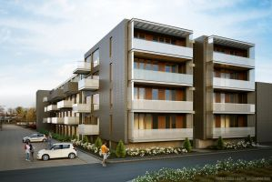 Apartment Building by rindrasan