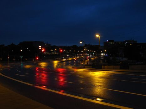Streets at Night by Rylius