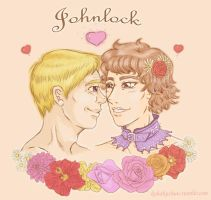 Johnlock spring by Kohakuchuu
