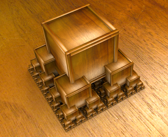 Wooden fractal by Theli-at