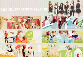 Pack sign PSD Happy b-day to Me by Shin58