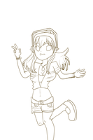 Super Sonico Lineart (FREE TO COLOR) by TropicalTwistz