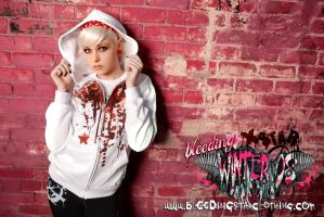 Splatterstar 2 Hoodie Blood by BleedingStarClothing