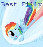 Best Filly: Rainbow Dash (Speedpaint!) by artoftheghostie