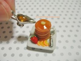 Dollhouse Miniature Orange Pancakes by ilovelittlethings