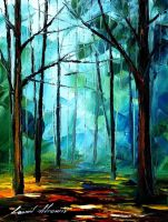 FOGGY MORNING - AFREMOV by Leonidafremov