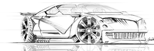 Car drawing practice WIP by gunzet