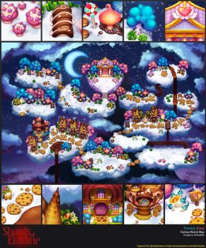 Fantasy Zone Map by CryptidTech
