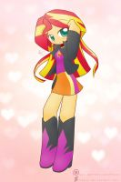 Weekly art#8 Sunset shimmer by HowXu
