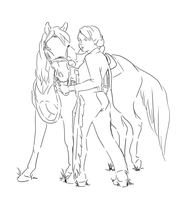 A Girl and Her Horse by saffron-gryphon