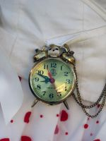 The white rabbit clock detail 2 by Miss-Gato