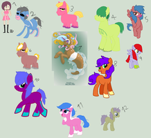 12 leftovers by Dulcet-Adopts