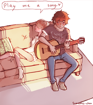 Play me a song by Someone-chan