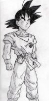Goku - Sketch #1 by Jaylastar