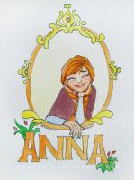 Anna, frozen watercolor by Yudine