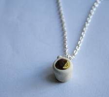 Cup of Tea Necklace by ClayRunway