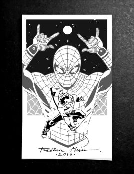 PETER PARKER / SPIDER-MAN! by Frederic-Mur