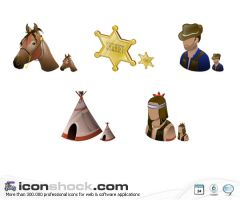 Wild West Icons by Iconshock