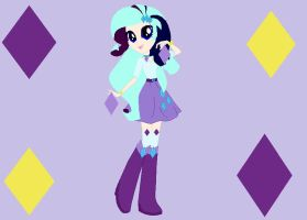 Itami in Rarity's outfit by YukiAtem12