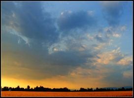Cloudy Sunset on Wheat - II by Joe-Tony