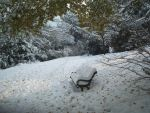 Snowy Bench by Merlinmagic09
