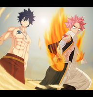 FT 446: Natsu and Gray by AlexanJ