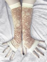 Prim Garden Arm Warmers by ZenAndCoffee