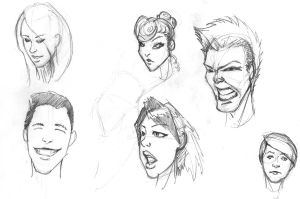Face Doodles by Nx3Fox