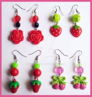 Mixed Earrings 2 by cherryboop