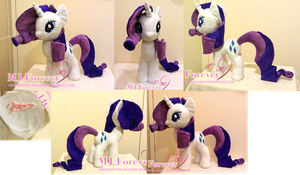 Fourth plushie - Rarity!  :D (SOLD) by moggymawee
