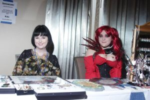 visioncon art show table by Wolf-Lady-bsparks85