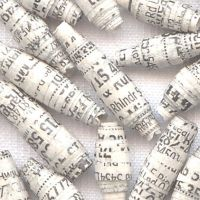 Phonebook Paper Beads - Upcycl by pawandclawdesigns