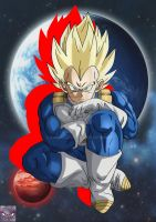 Vegeta Ssj Battle Of Gods Style by kingvegito