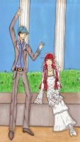 Junpei and Chidori by Bluejotain