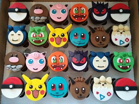 Pokemon Cupcakes by clvmoore