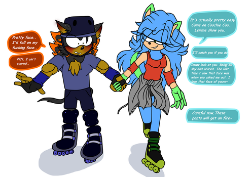 Roller Skate Lesson by SonicRulez21