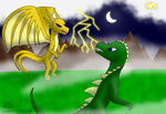 Ghadoryu vs Sunrus by CyndelatheDragon