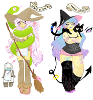 Witch Adoptables: Snake And Arrow (BOTH SOLD) by Costly
