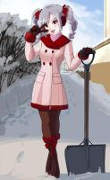 Snowshoveling with Ranko by wbd