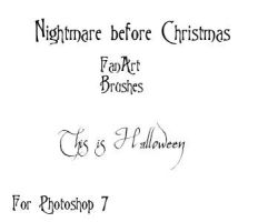 Nightmare before xmas brushes by didyoubelieve