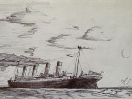 RMS Titanic-The Last Sunset by SammfeatBlueheart
