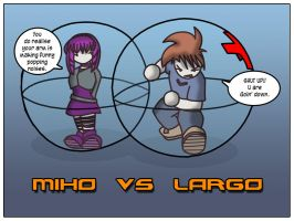 Miho vs Largo by crazybadger