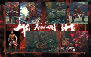 SFIV Ryu as General Asura's Wrath by monkeygigabuster