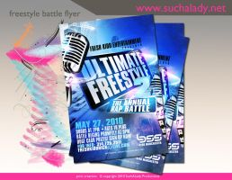 Freestyle Battle Flyer by thatladyj