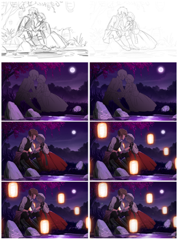 Midnight Rendezvous - Progress by Roggles