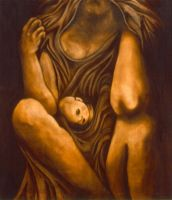 Madonna and Child by wolfiefish