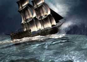 Storm at sea by vera48