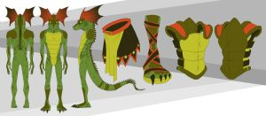 Aventinus Lizardman Sheet by FablePaint