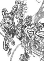 Spiderman and Spawn by LAReal