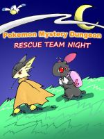 pokemon rescue team night by unknowforte